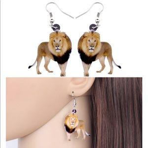 Lion Acrylic Earrings